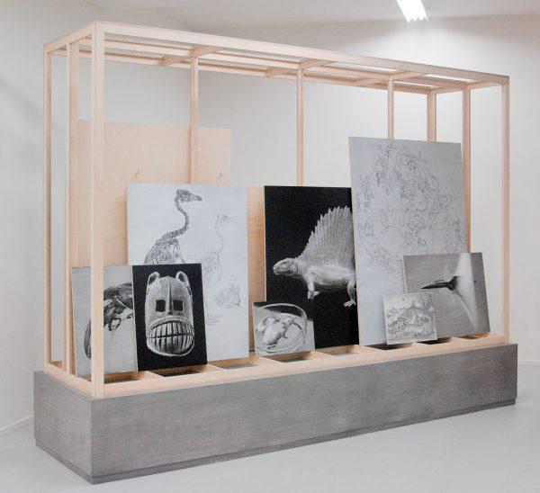 2016 - Niek Hendrix - The Vessel - Schilderijen in kabinet