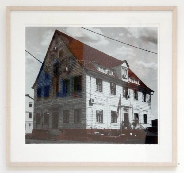 Iris Kensmil - Wooden City Wagenwegstraat - 2kleuren zeefdruk, oplage 2 van 4