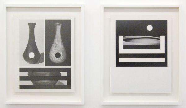 Louis Reith - Untitled (Lood) I & II - 21x27cm Collage van gevonden boekpagina's