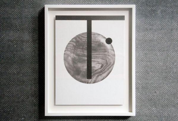 Louis Reith - Untitled (Lood) II - 21x29cm Collage van gevonden boekpagina's