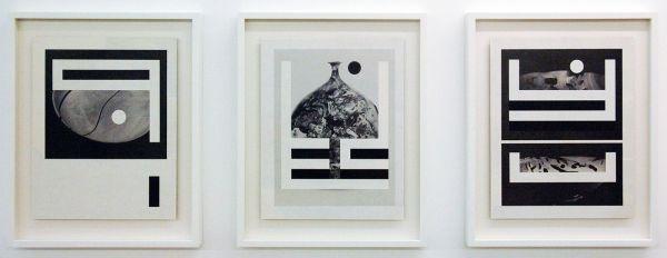 Louis Reith - Untitled (Lood) III & IV & V - 21x27cm Collage van gevonden boekpagina's