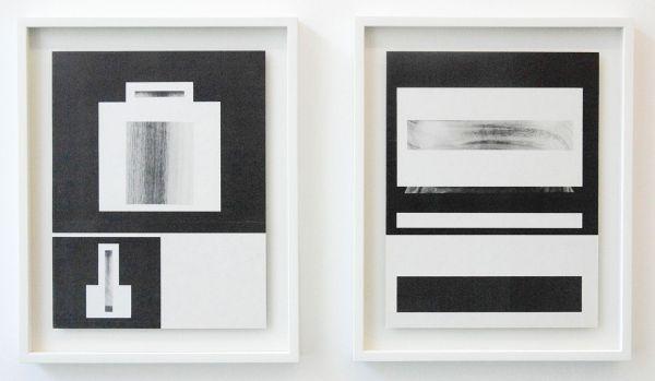 Louis Reith - Untitled (Lood) III & IX - 21x29cm Collage van gevonden boekpagina's