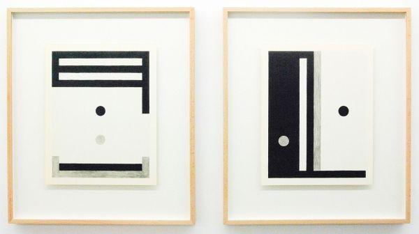 Louis Reith - Untitled (Stof) I & II - 24x30cm Potlood en inkt op gevonden boekpagina's