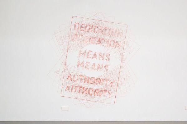 Job Koelewijn - Untitled (Dedication Means Authority) - 200x200cm Potlood, marker en sjabloon
