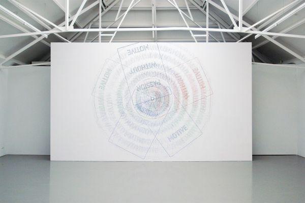 Job Koelewijn - Van een Rechthoek naar een Cirkel - 370x370cm Potlood, pen, marker en sjabloon