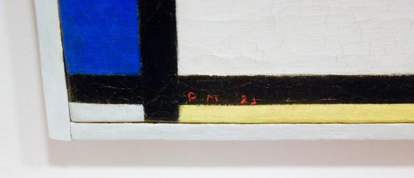 Piet Mondriaan - Tableau No XI - 39x35cm Olieverf op doek, 1925 (detail)