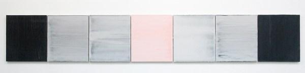 Willy de Sauter - Zonder Titel - 7 maal 35x24cm Pigment en krijt op paneel