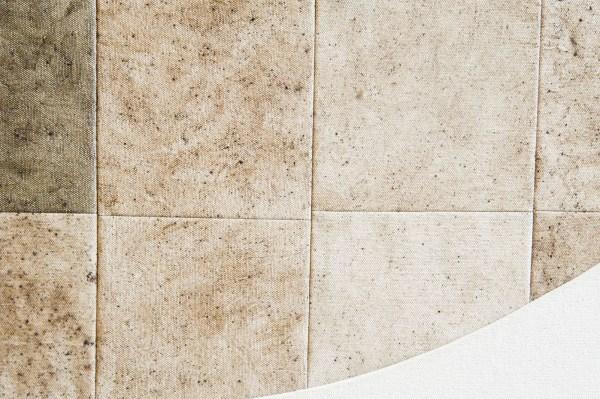 Frank Ammerlaan - Obliquity - 185x165cm Stof, vuiligheid en meteoriet deeltjes op canvas, linnen en jute (detail)Frank Ammerlaan - Obliquity - 185x165cm Stof, vuiligheid en meteoriet deeltjes op canvas, linnen en jute (detail)