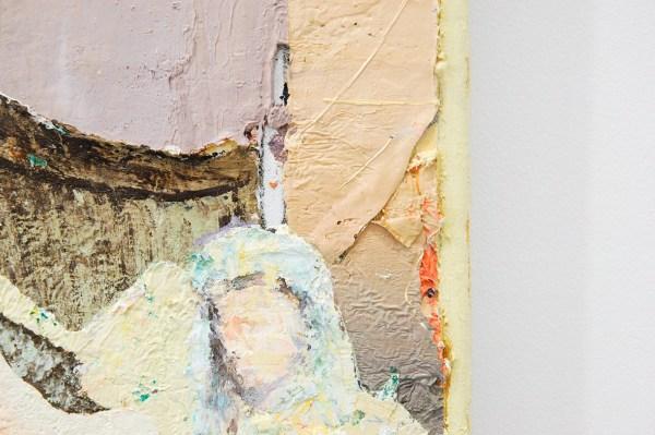 Matthias Weischer - Bankett 1 - 44x47cm Olieverf op canvas (detail)