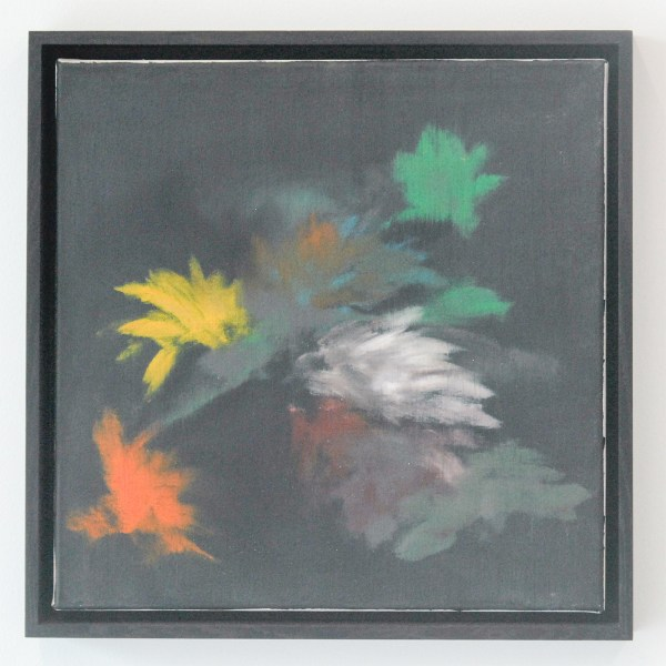 Ross Bleckner - Untitled - 46x46x2cm - Olieverf op canvas