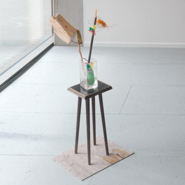 Walter Swennen - Julie's Vase of Flowers - 100x45x37cm Mixed media