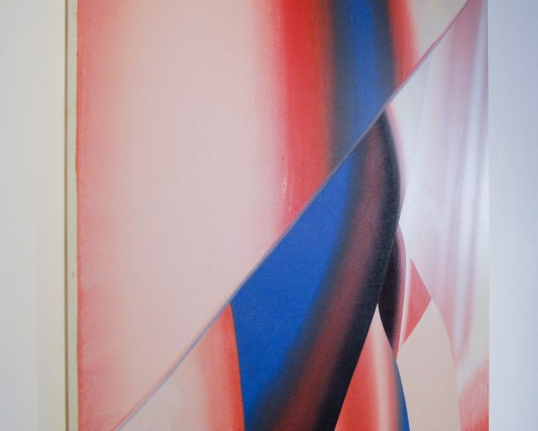 Hadassah Emmerich - Ulterior Motive 6 - 220x146cm Olieverf en print inkt op linnen (detail)