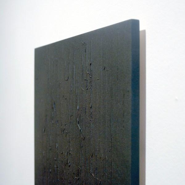Marielle Buitendijk - Zonder Titel - 40x23cm Pigment, acrylverf en snedes op eiken hout (detail)