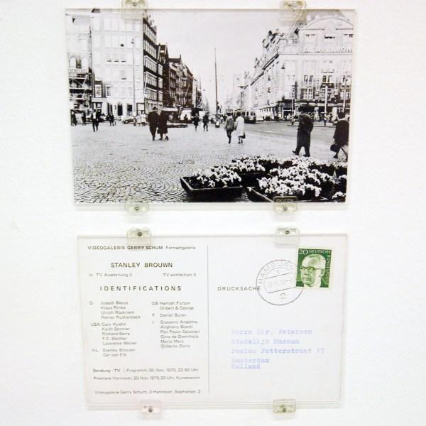 Videogalerie Gerry Schum, TV Ausstellung II, identifications (fragment); stanley brouwn, 1970