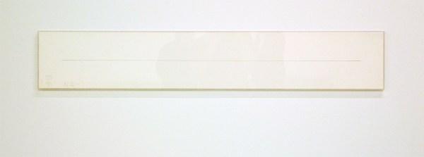 stanley brouwn - 3 steps on 1 m - Potlood op papier, 1976