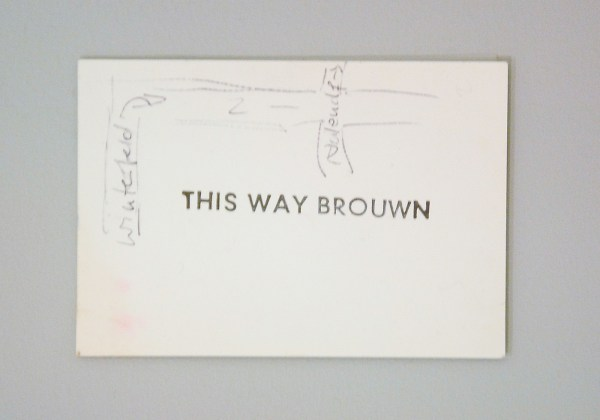 stanley brouwn - this way brouwn - Viltstift, inkt, potlood en stempel op papier, 1964