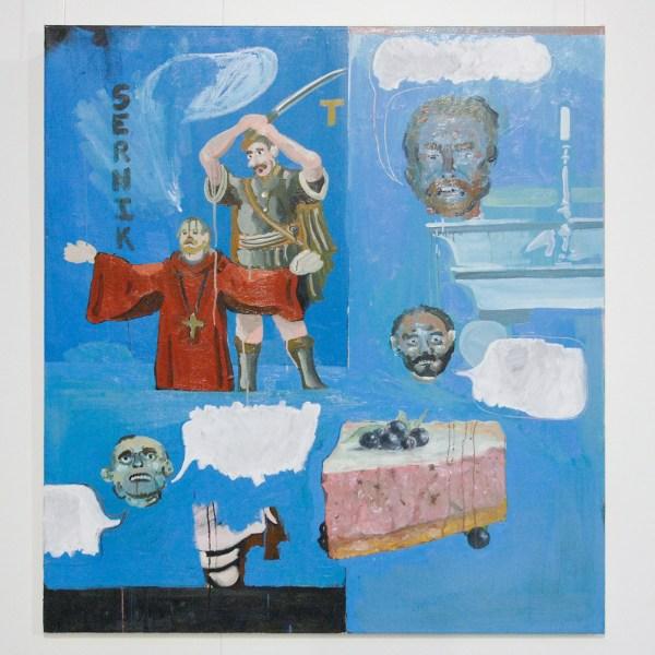 William Ludwig Lutgens - Sernik- 120x130cm Olieverf en acrylverf op canvas