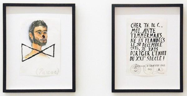 Ante Timmermans - 690,2013 - 21x15cm Waterverf en potlood op papier & 502,2011 - 21x15cm Inkt, stempel en potlood op papier