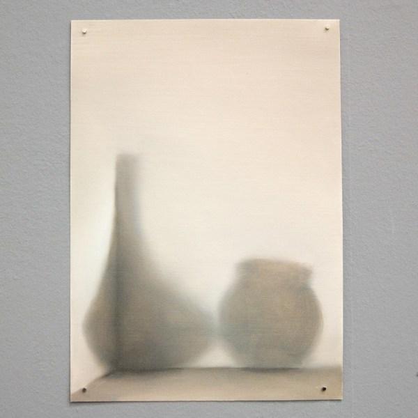 Jasper Hagenaar - Twee Vazen - 30x21cm Olieverf op papier