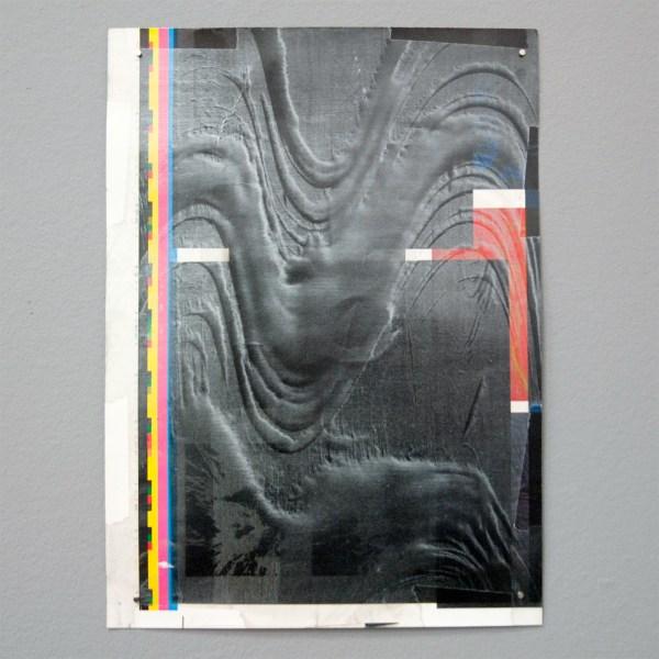 Martijn Schuppers - Pentimenti - 31x23cm Alkydverf en olieverf op geprinte media