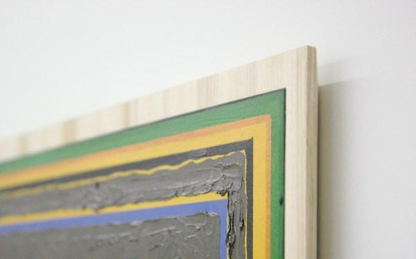 Matts Leiderstam - Panel no 10 - 32x44cm & Panel no 6 - 20x26cm & Panel no 17 - 65x49cm, Olieverf en acrylverf op populieren paneel (detail)