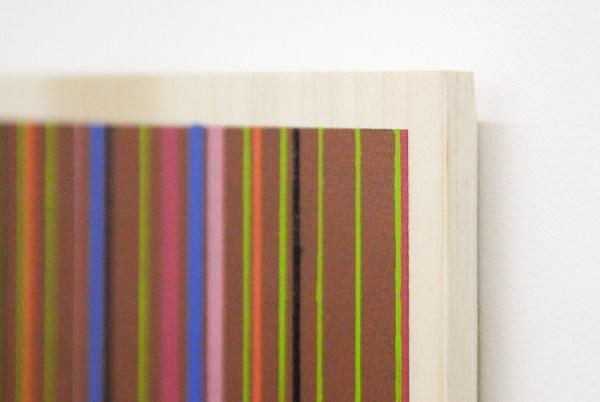 Matts Leiderstam - Panel no 11a & 11b - beiden 51x37cm, Olieverf en acrylverf op populieren paneel (detail)