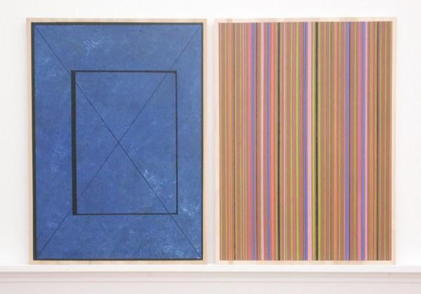 Matts Leiderstam - Panel no 11a & 11b - beiden 51x37cm, Olieverf en acrylverf op populieren paneel