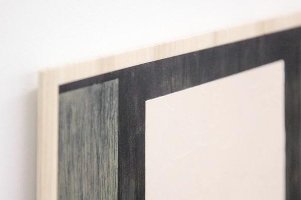 Matts Leiderstam - Panel no 12 - 26x20cm, Olieverf en acrylverf op populieren paneel (detail)