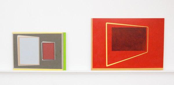 Matts Leiderstam - Panel no 19 - 33x46cm & Panel No 13 - 45x63cm, Olieverf en acrylverf op populieren paneel