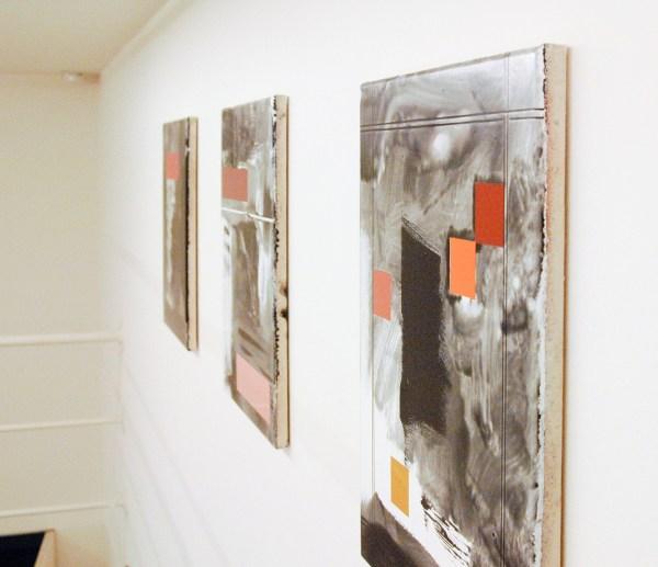 Ronald de Bloeme - Partie I, II & III - 50x40cm Mat- en hoogglanslak op katoen (detail)