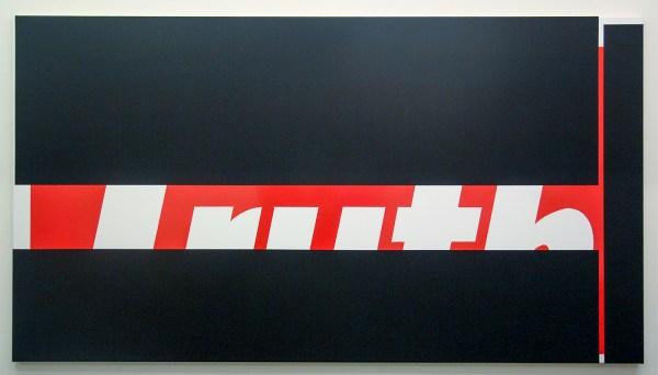 Ronald de Bloeme - Weekend Thruth - 110x200cm Mat- en hoogglanslak op katoen