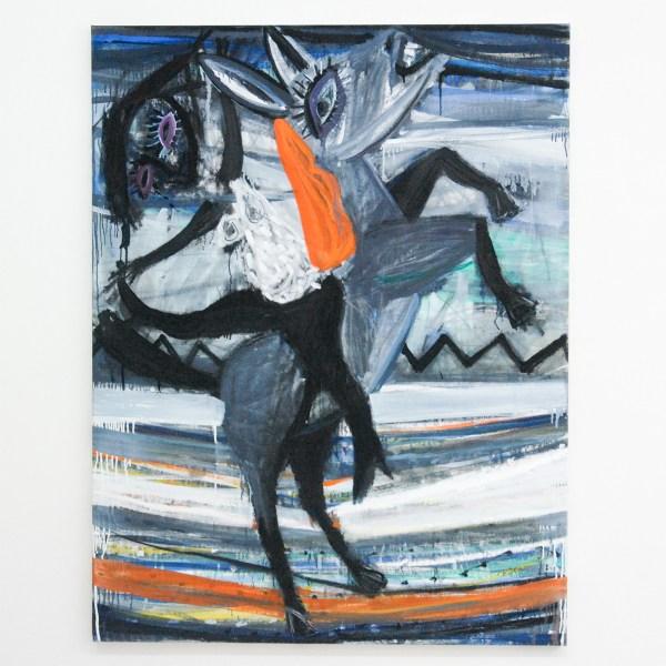 Gerben Mulder - Donkey had Enough - 142x110cm Olieverf op canvas