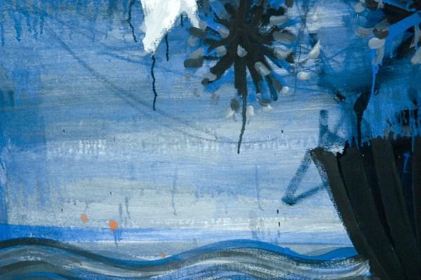 Gerben Mulder - Flowers in Vase - 122x133cm Olieverf op canvas (detail)