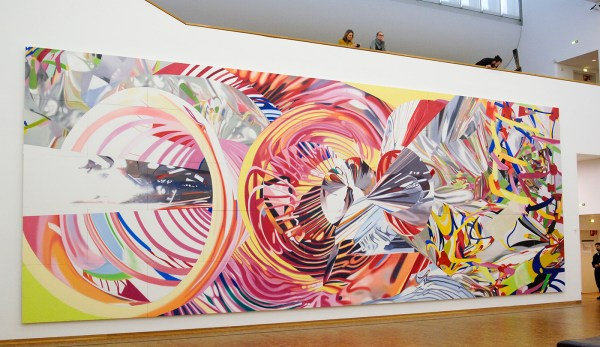 James Rosenquist - The Stowaway Peers Out at the Speed of Light - Olieverf op canvas
