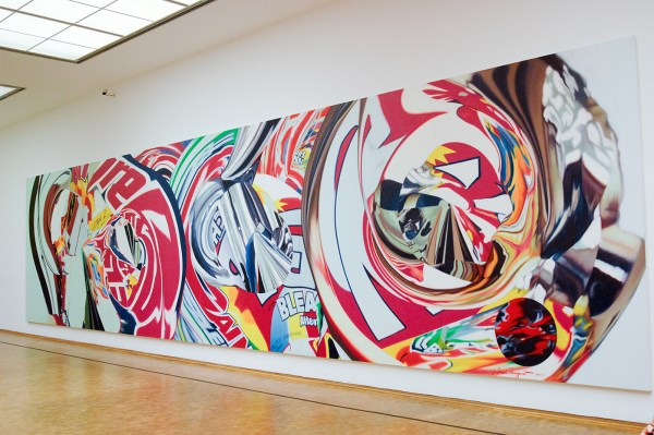 James Rosenquist - The Swimmer in the Econo-mist 2 - Olieverf op shaped canvas