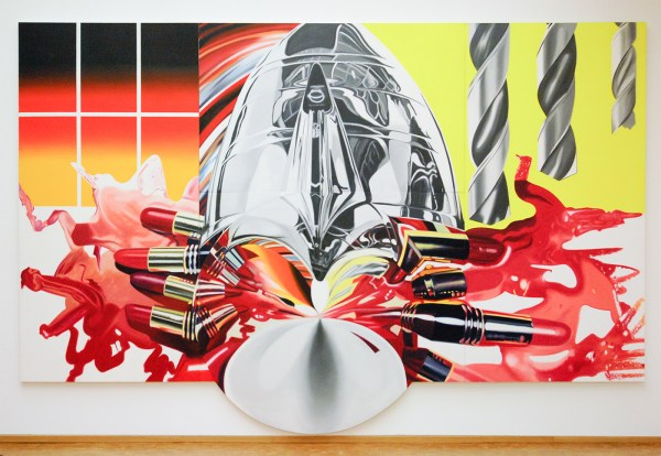 James Rosenquist - The Swimmer in the Econo-mist 3 - Olieverf op shaped canvas