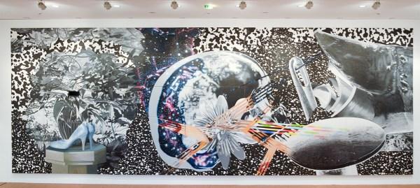 James Rosenquist - Through the Eye of the Needle and Anvil - Olieverf en acrylverf op canvas met olieverf op multiplex paneel