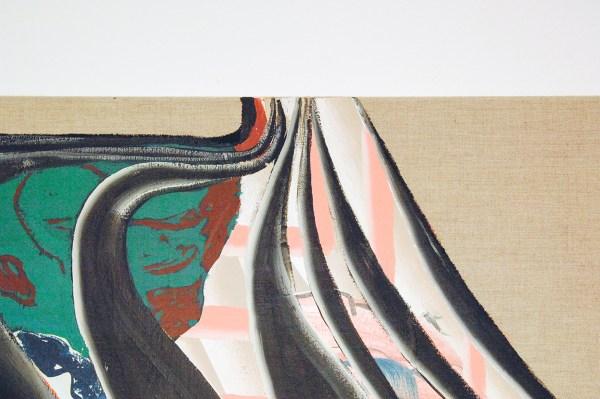 Bridget Mullen - Forgettable Sunsets - 120x90cm Acrylverf en spuitbus op linnen (detail)