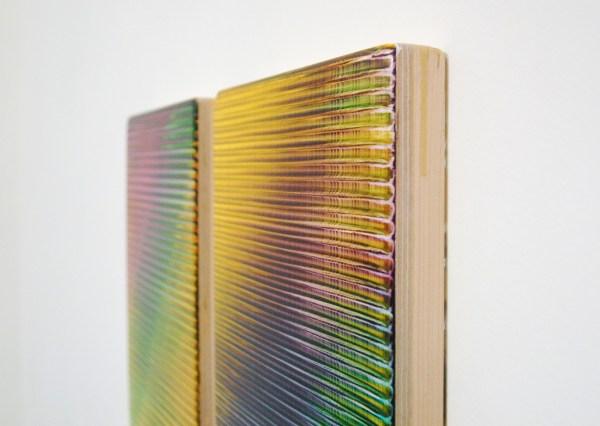 Rob Bouwman - Untitled (p092017) & (p0102017) - Tweeluik, 35x25cm Olieverf en alkydverf op paneel (detail)