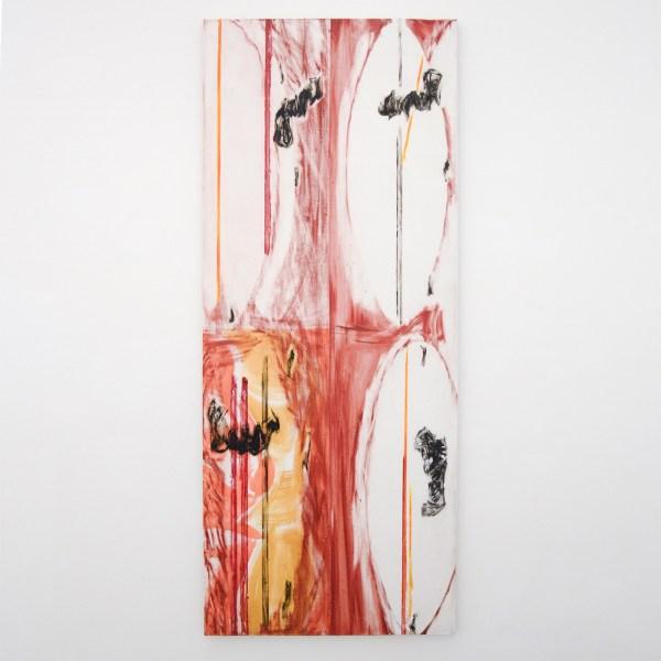 Toon Verhoef - Geen Titel - 220x90cm Acrylverf en olieverf op linnen