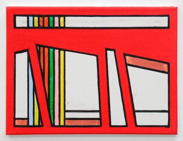 Allard Budding - Zonder Titel - 30x40cm, Houtskool en acrylverf op canvas