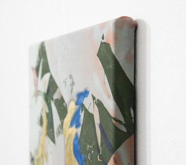 Bas van den Hurk - So Come On and Make a Mess of Me - 40x20cm Zeefdruk en olieverf op zijde (detail)
