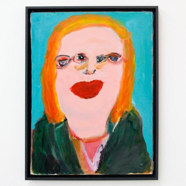 Margot Bergman - Auntie Gladyce - 60x45cm Acrylverf op gevonden canvas