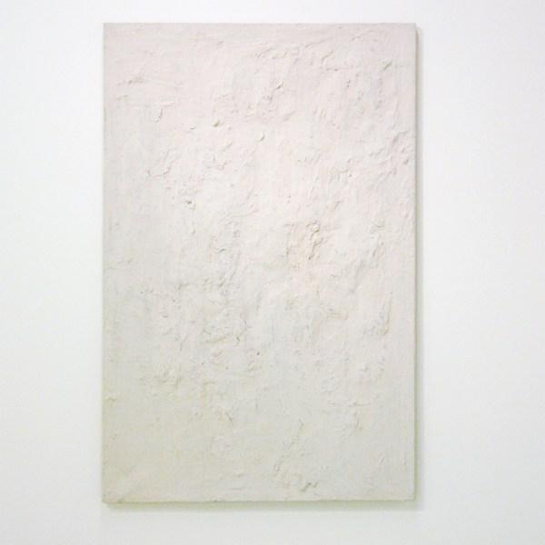 Jan Hendrikse - Wit Schilderij - Olieverf en gips op doek, 1959