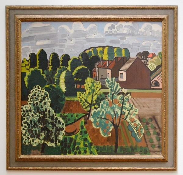 Jean Brusselmans - Zonnig Brabants Landschap - Olieverf op doek, 1940