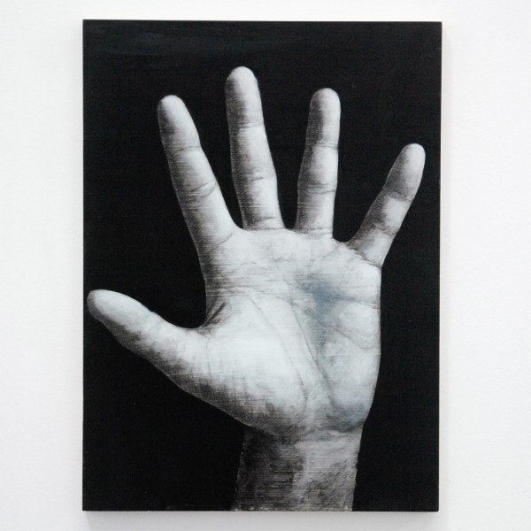 Niek Hendrix - The Hand of The Artist - 28,5x38cm Oil and pencil on panel
