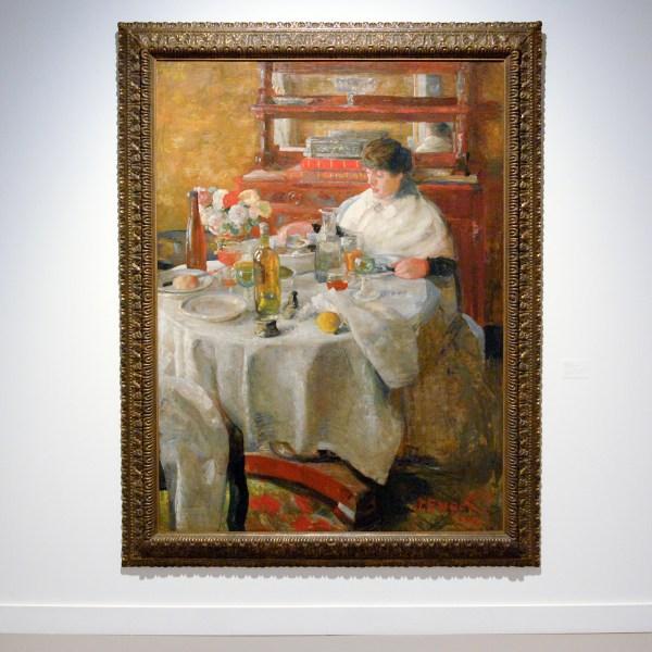 James Ensor - De Oestereetster - Olieverf op doek, 1882