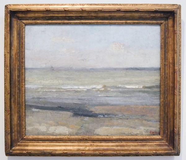 James Ensor - Grijze zee - Olieverf op doek, 1880