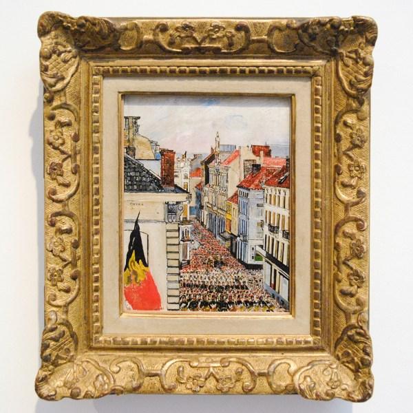 James Ensor - Muziek in de Vlaanderenstraat - Olieverf op paneel, 1891