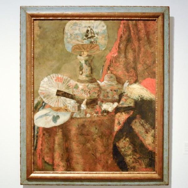 James Ensor - Stilleven met chinoiserieen - Olieverf op doek, 1880